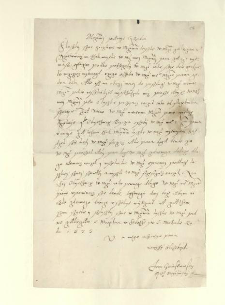 Karta rękopisu zapisana w jednej kolumnie.