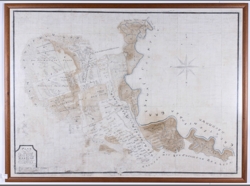 Mapa katastralna majętności Kórnickiej pochodząca z 1777 roku. Widać na niej majętności Kórnik (woj. wielkopolskie) w kartografii 18 w.