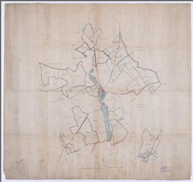 Mapa lasów należących do klucza kórnickiego